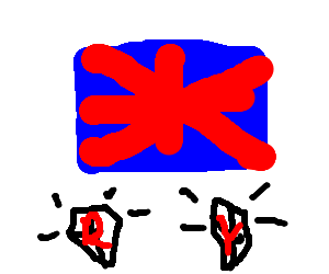 England is above engraved R and Y diamonds