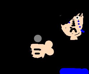 angry elmo has a glock