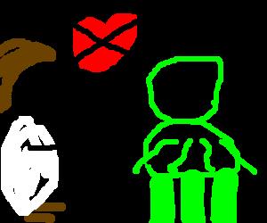 Jesus tells green alien that nobody loves him.