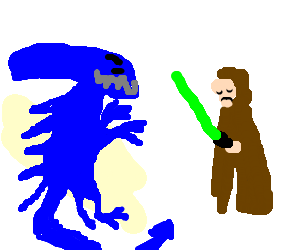 Blue xenomorph slays Jedi, won't join light side