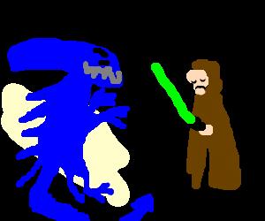 Blue xenomorph slays Jedi, won't join light side