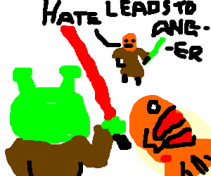 Shrek and Nemo turn to the dark side