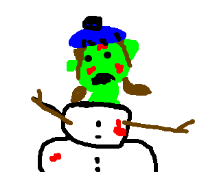 ... so we turned the zombie into a snowgirl...