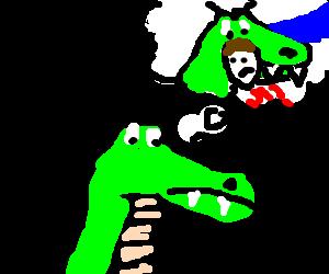 Crocodile wished he had a human for dinner.