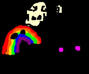 Rainbow hitting on a man (he likes it)