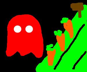 Pac man ghost gardening