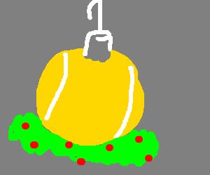 Christmas time tennis ball