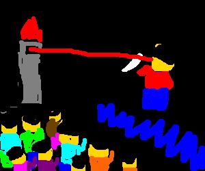 Legoman graduation assassination attempt.
