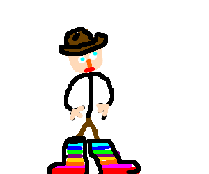Rainbow Cowboy Boots