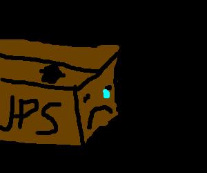 sad looking package
