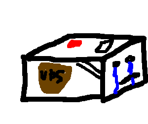 Teary UPS box.