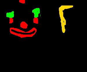 Evil clown tortures women.