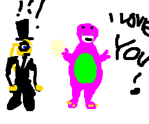 Barney accosts a gentleman