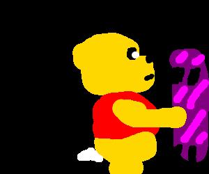 Winnie the Pooh longboarding.