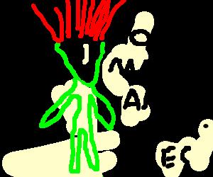 Distressed Alien Troll Doll