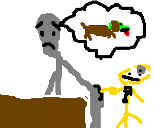 Alien cries about sick dog while colonoscopy