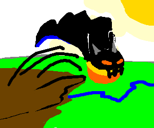Ace The Bat-Hound turns orange & jumps off cliff