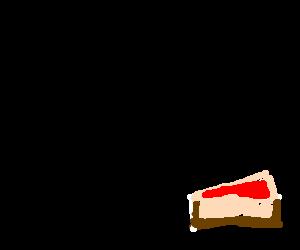 Flying Nargacuga eats a cheesecake.