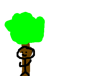 man and tree become one