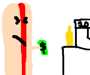 Angry Hot Dog pays cash