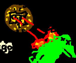 Mayas destroy Godzilla