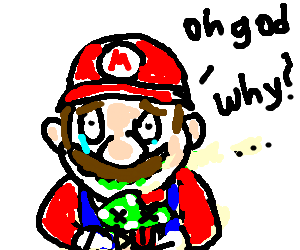 mario ate his best friend mushroom