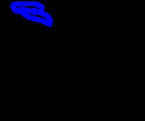 transparent man with blue cap and blue visor