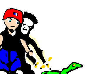 Limp Bizkit tries to kill snake