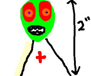 small green alien doctor
