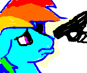 Rainbow Dash gives you pouty eyes