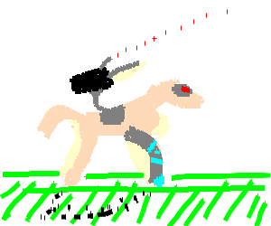 A Pink Cyborg Unicorn