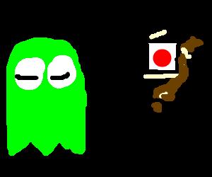 Green ghost dreams of Japan.