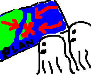 ghosts learn the plan to invade Japan