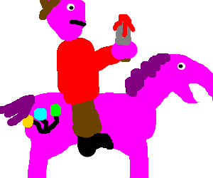 Murderer rides Pinkie Pie as he swears