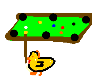 Chicken billiards