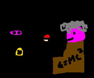 Batman, Einstein play keepie-uppie with pokeball