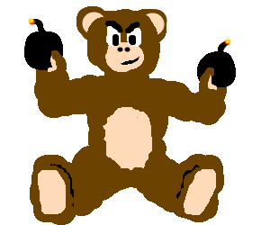 Teddybear loves to play with bombs