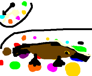 Platypus playing Twister