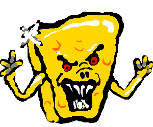 evil shiny cheese monster is coming to get you! - drawing by Joe31213
