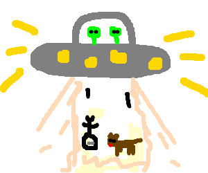 Alien abduct a boy and his dog