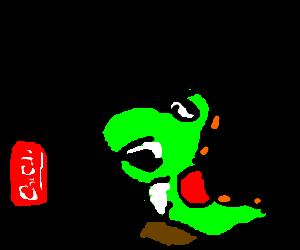 Fat Yoshi Exersizing Drawception