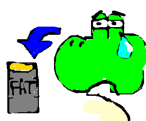Yoshi Is Crying Over Removed Fat Drawing By Zakk Drawception