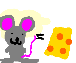The mouse and the cheese are equal
