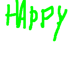 Derogatory word written in green
