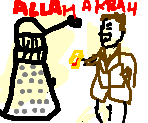 Dalek becomes religious in his last moments