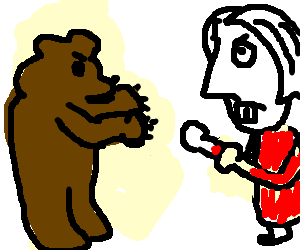 Ayn Rand fights a bear