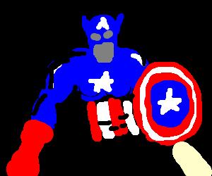 Faceless Captain America