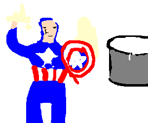 Capt. America at the milk factory