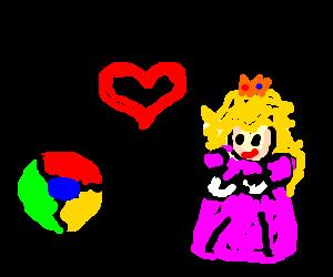 Google chrome romances princess peach