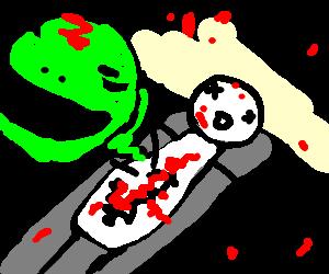 Alien Chestburster Scene Drawing By Bartie Drawception